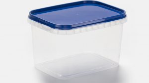 Rectangle 500 ml with lid and temper evident lid + container